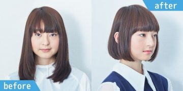 シンプルなボブ@細・多・クセの髪質